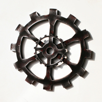 Retro Industrial Wind Black Gear Mural 30cm Bar Art Wall Hook Gear Ornament Decoration Creative Home