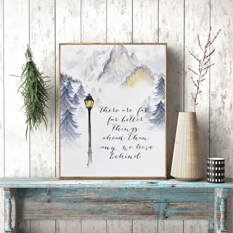 picture regarding Movie Posters Printable titled US $2.87 20% OFFChronicles of Narnia Artwork Print C.S. Lewis Printable Estimate Poster Wall Artwork Canvas Portray Clic Video Posters Property Wall Decor-within