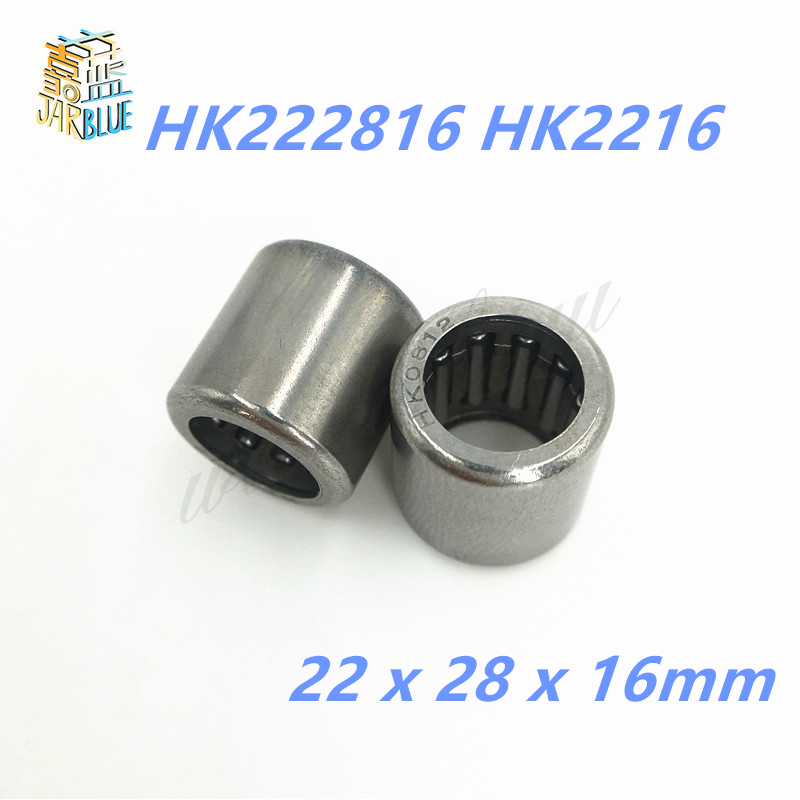 10Pcs HK222816 HK2216 <font><b>22</b></font>*<font><b>28</b></font>*16mm 57941/<font><b>22</b></font> Drawn Cup Type Needle Roller <font><b>Bearing</b></font> <font><b>22</b></font> x <font><b>28</b></font> x 16mm Free shipping High Quality image