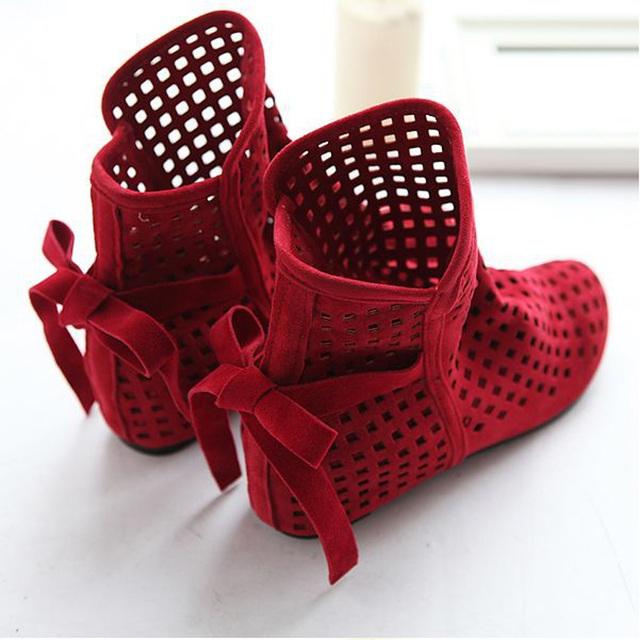 Mulheres Altura Crescente sapatos de Sandálias Para Sandálias de Verão Casual Lace-Up Gladiador Fretwork Nubuck sapatos De Couro tamanho grande 34-43
