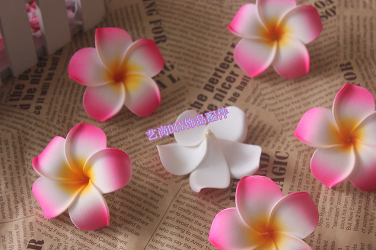 9cm artificial plumeria flowershawaiian foam frangipani flower 9cm artificial plumeria flowershawaiian foam frangipani flower headsdiy wedding corsagehair accessoriesparty decorations in artificial dried flowers mightylinksfo
