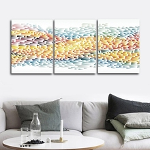 Colorful Abstract Nordic Wall Pictures Poster Print Canvas Painting Calligraphy for Living Room Bedroom Home Decor Frameless