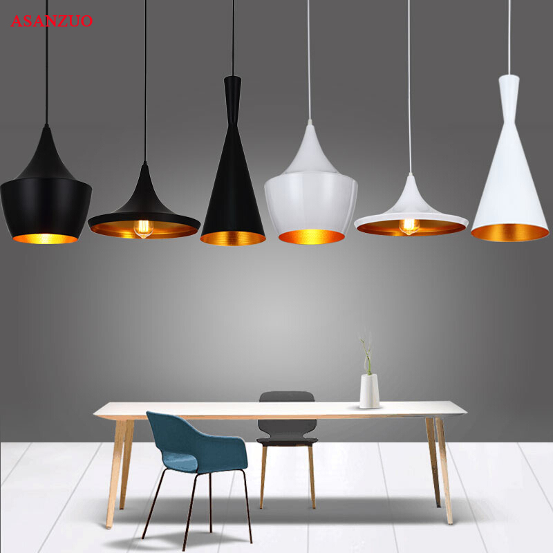 Retro American Pendant Lights E27 Modern Nordic Restaurant Hanging Lamps Vintage Dining Living Room Bar Cafe Droplight Fixtures