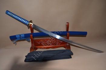 1060 High Carbon Steel Full Tang Blade Tiger Tsuba Japanese Samurai Sword Katana can cut bamboo tree
