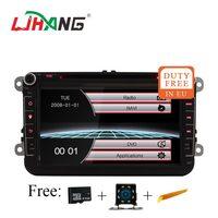 LJHANG Car Multimedia player 2 Din For VW/Volkswagen/Golf/Polo/Tiguan/Passat/b7/b6/SEAT/leon/Skoda/Octavia GPS Navi RDS USB TMPS
