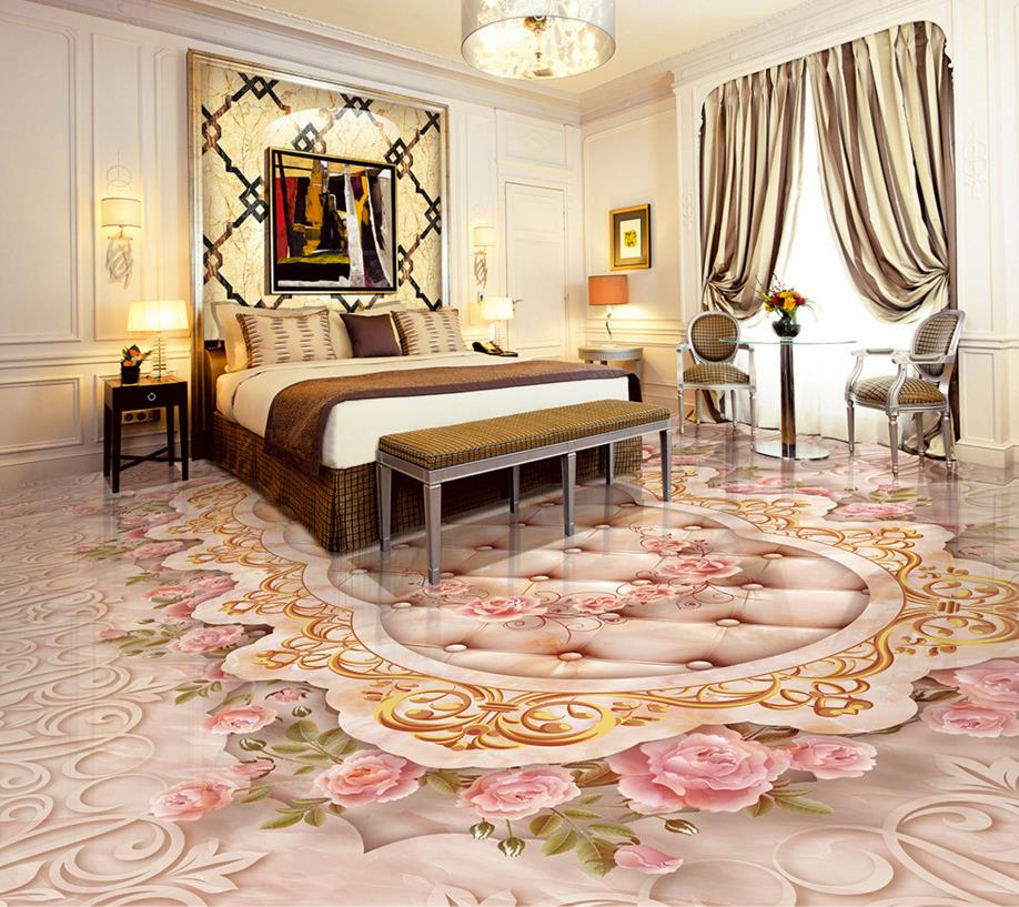 Custom 3d stereoscopic flooring pvc vinyl floor tile Marbles pattern floor pvc waterproof wallpaper beibehang walking cloud 3d floor tile tile customization large fresco pvc thick wear resistant floor cover papel de parede