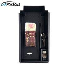 Carmonsons подлокотник ящик для хранения Контейнер держатель лотка для Skoda Superb 2009-2017 автомобилей Организатор Интимные аксессуары стайлинга автомобилей