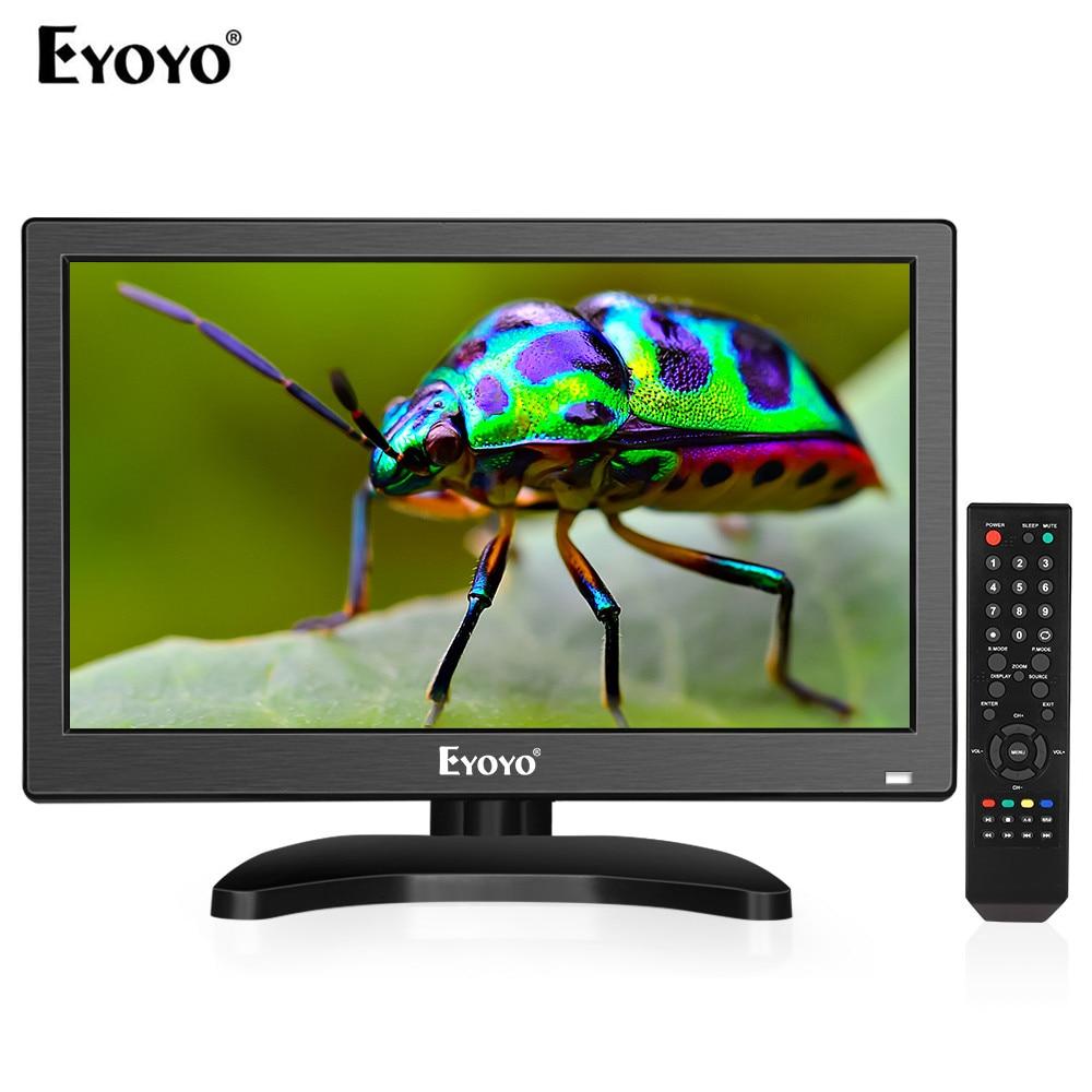 Eyoyo 12 zoll 1920x1080 IPS LCD Screen Display HDMI TV Monitor, tragbare Küche TV mit HDMI/VGA/AV/USB Eingang & Fernbedienung