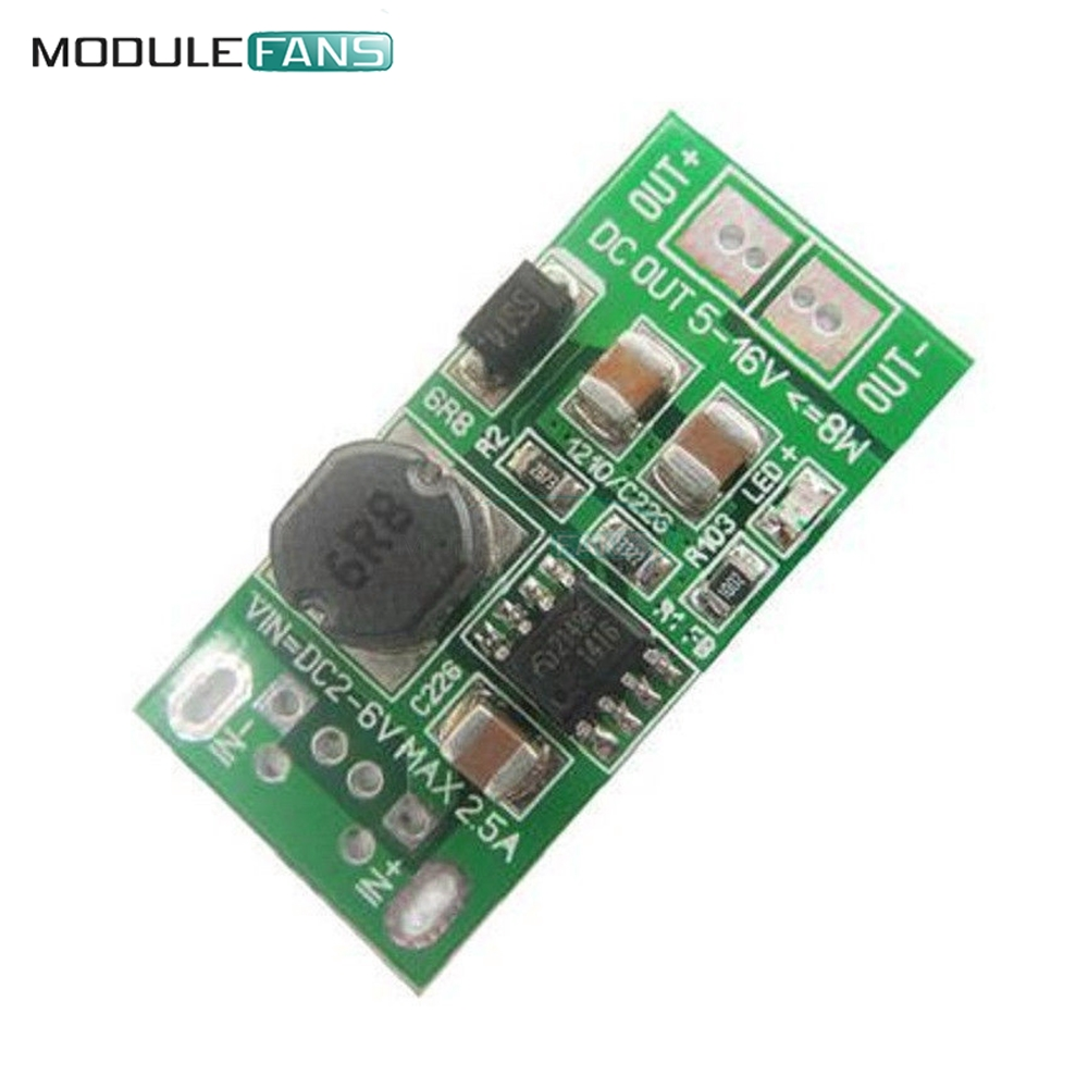 Dc 2v 5v To Step Up Boost Power Supply Module Voltage Pwm Motor Solar Charge Controller With Usbdc 5a Cmtp01du05a 8w Usb Input 1v 6v 12v