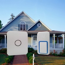 США Plug battery-free беспроводной дверной звонок. 120 м пульт дистанционного управления цифровой водонепроницаемый AC100V-240V двери bell.25 кольца для дома колокол.