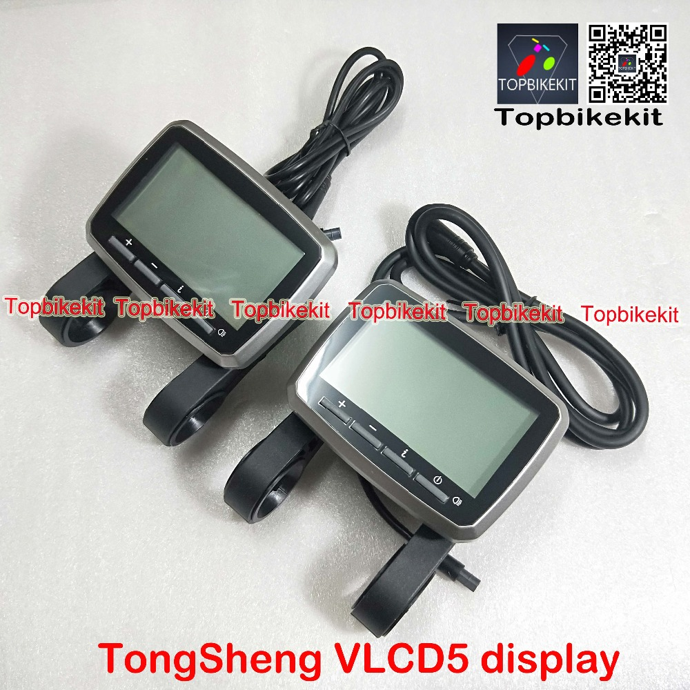 E-Bike Display VLCD5 Mid Drive Motor Scooter 6 Pins Meter Monitor For Tongsheng