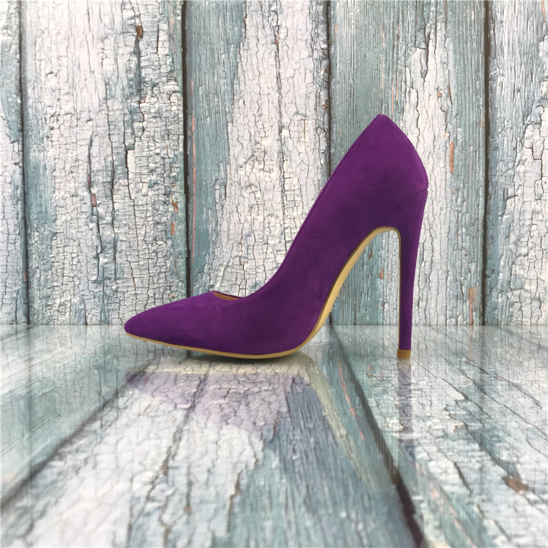 Kmeioo Brand 2018 US Size 5-15 New Fashion Shoes Woman High Heels Wedding Pumps 12CM Sexy Pointed Toe Office Ladies