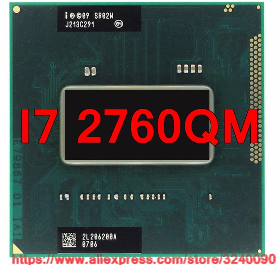 Original lntel Core I7 2760QM SR02W CPU 6M Cache 2 4GHz 3 5GHz Quad Core i7