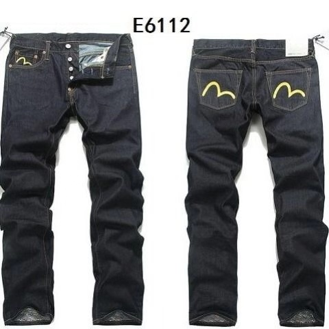 Evisu Pants Jeans Trousers Print Breathable Straight Casual Fashion New Button Warm Men's