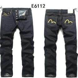 2020 Evisu Neue Casual männer Atmungsaktiv Hohe Qualität Mode Hosen Warme männer Taste Solide Jeans Gerade Drucken Männer der Hose