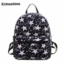 2016 Women Canvas Shoulder Bag Printing Bag School laptop backpack Rucksack backpacks for teenage girls mochilas feminina