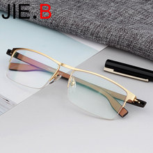 High quality titanium alloy + TR90 half frame mens glasses myopia reading can be customized