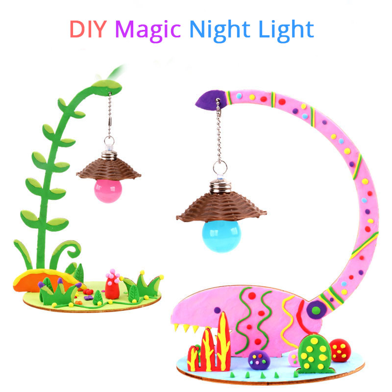 Children Handmade Magic Night Light DIY 3D Night Lamp Baby Nursery Table Lamp For Baby Kid Birthday Gift Toys Home Decoration