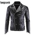 HEE GRAND 2017 New Male Pilot Leather Motorcycle Bomber Jacket Men Fashion PU Suede Outwear Chaqueta De Cuero MWP326