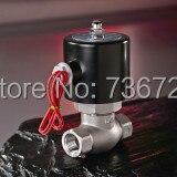 Электромагнитный клапан из нержавеющей стали, нормально замкнутый водный и газовый клапан 1 дюйм, 1 дюйм