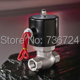 Stainless steel solenoicl valve 1 1 inch Solenoid Valve Water Gas Normal Closed Pilot operated