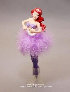 Image 3 - Disney Princess Cinderella Snow White ball pen 6pcs/set 19cm Action Figure Decoration PVC Collection Figurine Toys model gift