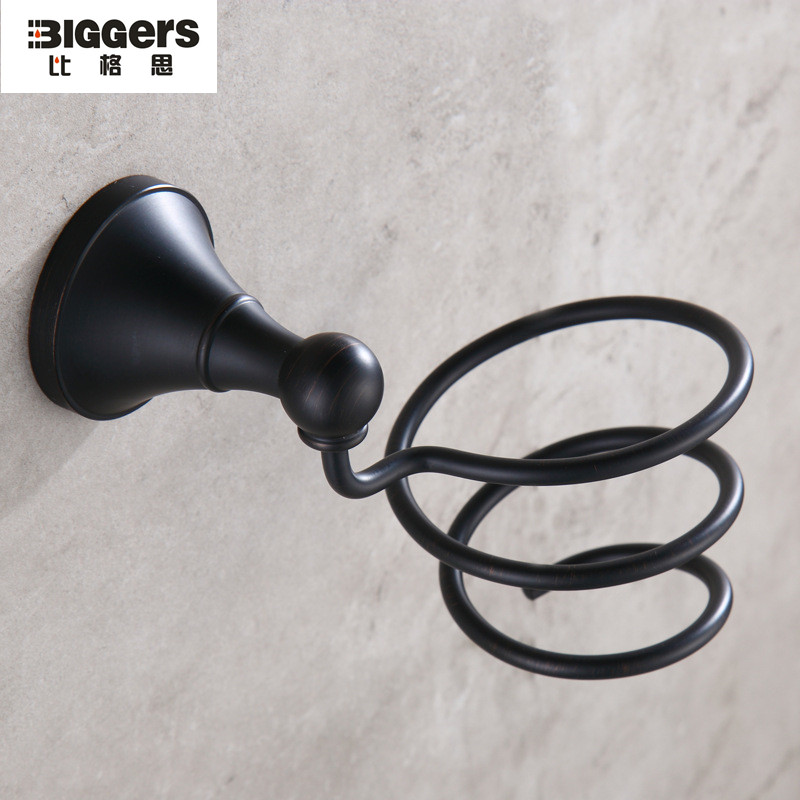 Free Shipping Gers Sanitary B91016 Black Bronze Hair Dryer Holder Wall Mounted Copper Material In Bathroom Shelves From Home Improvement On