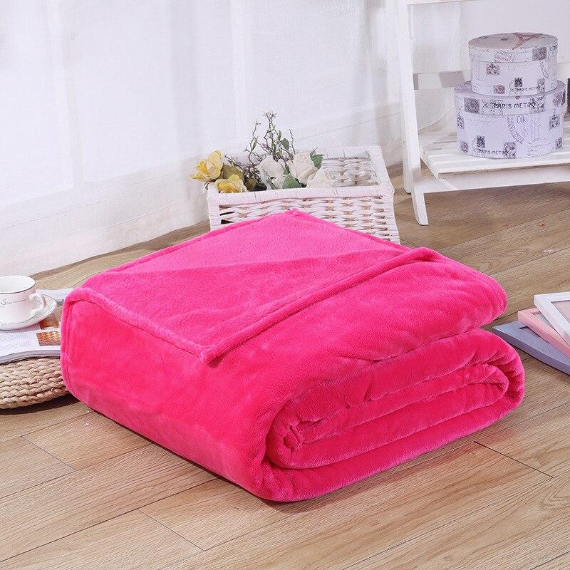 Image 5 - CAMMITEVER Cheap Blanket 100*70cm Fleece Blankets For Bed Throw Blanket Machine Washable Home Textile Solid Blankets for Home-in Blankets from Home & Garden