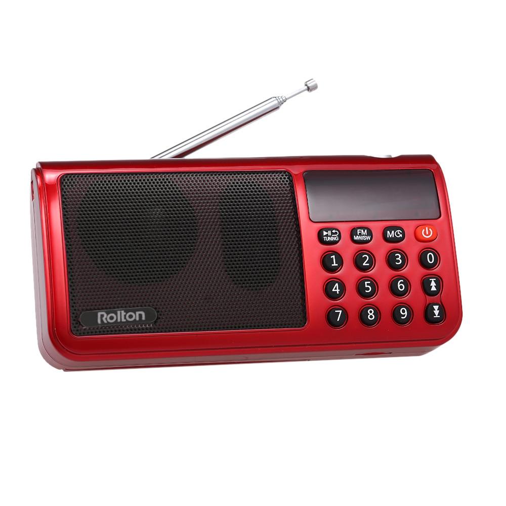 Sw 3-band Digital-radio Portable Usb Verdrahtete Computer Lautsprecher Hifi Stereo Tf Empfänger Led Display Verkaufspreis WunderschöNen Rolton T50 Fm Mw