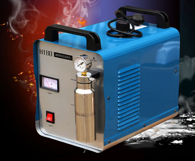 300W Portable Oxygen Hydrogen Flame Generator Acrylic Polishing Machine, 95L 2 Gas Torches free