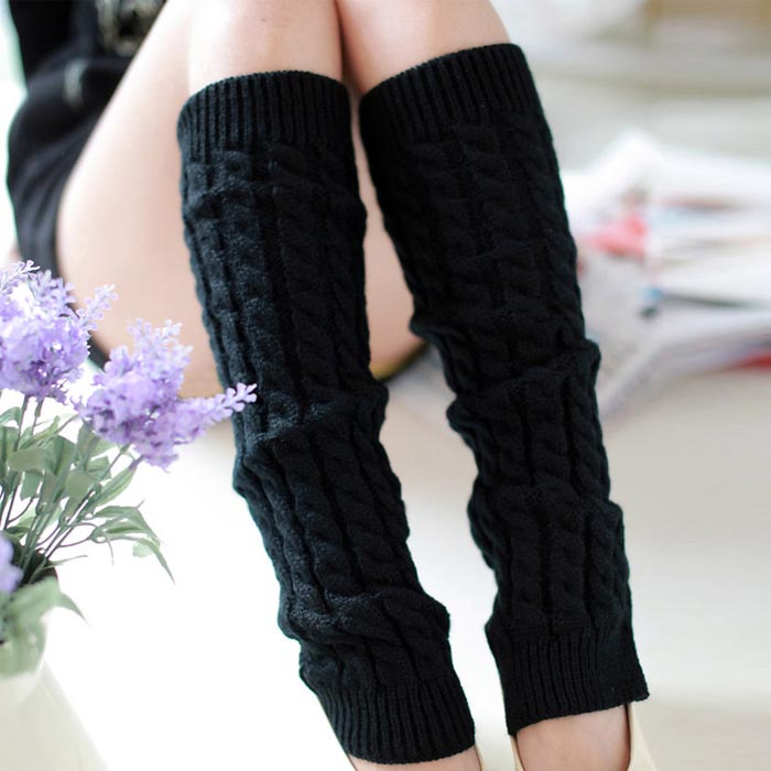 Amazing Fashion Women Winter Warm Leg Warmers Knitted Scoks Crochet Long Boots Socks New ...