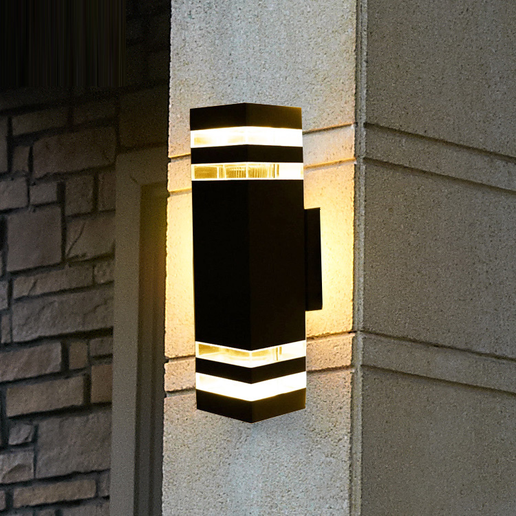 Waterproof Outdoor led Wall Lamp Engineering Under The Illumination Lamp Wall light Simple Outdoor Courtyard Garden Wall цена и фото