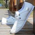 2017 Resorte de Alta Calidad de los Planos de Los Hombres Zapatos Casuales Resbalón En Holgazanes Zapatos Planos Masculinos