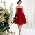 New Arrival 2017 fairy short fashion design color red sweetheart ball gown lace up women short prom dresses in stock cheap