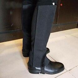 Canvas + couro equipamento de equitação equestre suprimentos equipamentos para cavalo cavaleiro corpo protetores equitação leggings proteção engrenagem