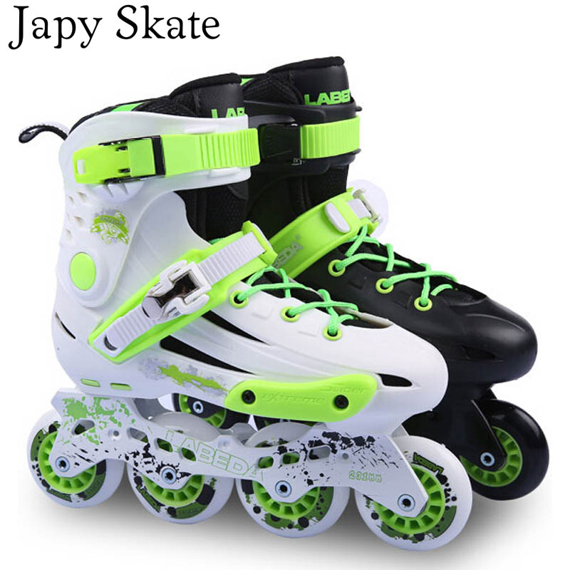 Japy Skate Labeda V5 Adult Inline Skate Shoes Roller Skate Slalom Skates Braking Free Skating Athletic Shoes Patins Slide Hokey цены
