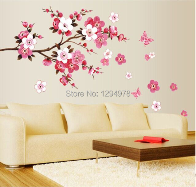 Charmant Online Shop Pink Flowers Butterfly Bathroom Decor Removable Large Wall  Stickers Princess Love Room Decoration Wall Art Poster Mirror Decals |  Aliexpress ...