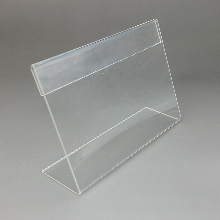 Transparent 100x80mm L Shape Pmma Acrylic Plastic Table