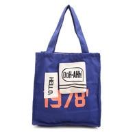 Direct selling canvas shopping bag, Korean version, simple fashion letter, hand sail, cloth bag, shoulder bag.