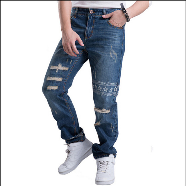 Aliexpress.com : Buy ripped jeans for men trousers Worn out jeans ...