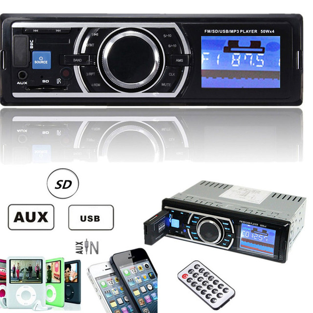 New Auto Car Stereo Audio In-Dash Aux Input Receiver with SD USB MP3 FM Radio Player With remote control  DC 12-14.4V