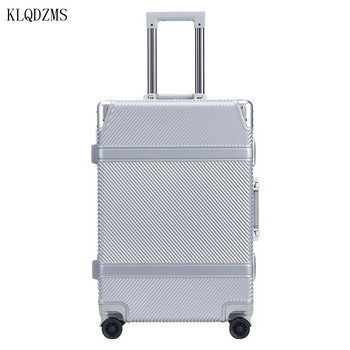KLQDZMS HOT!! 20/24inch PC Aluminum frame travel trolley suitcase spinner rolling luggage on wheels