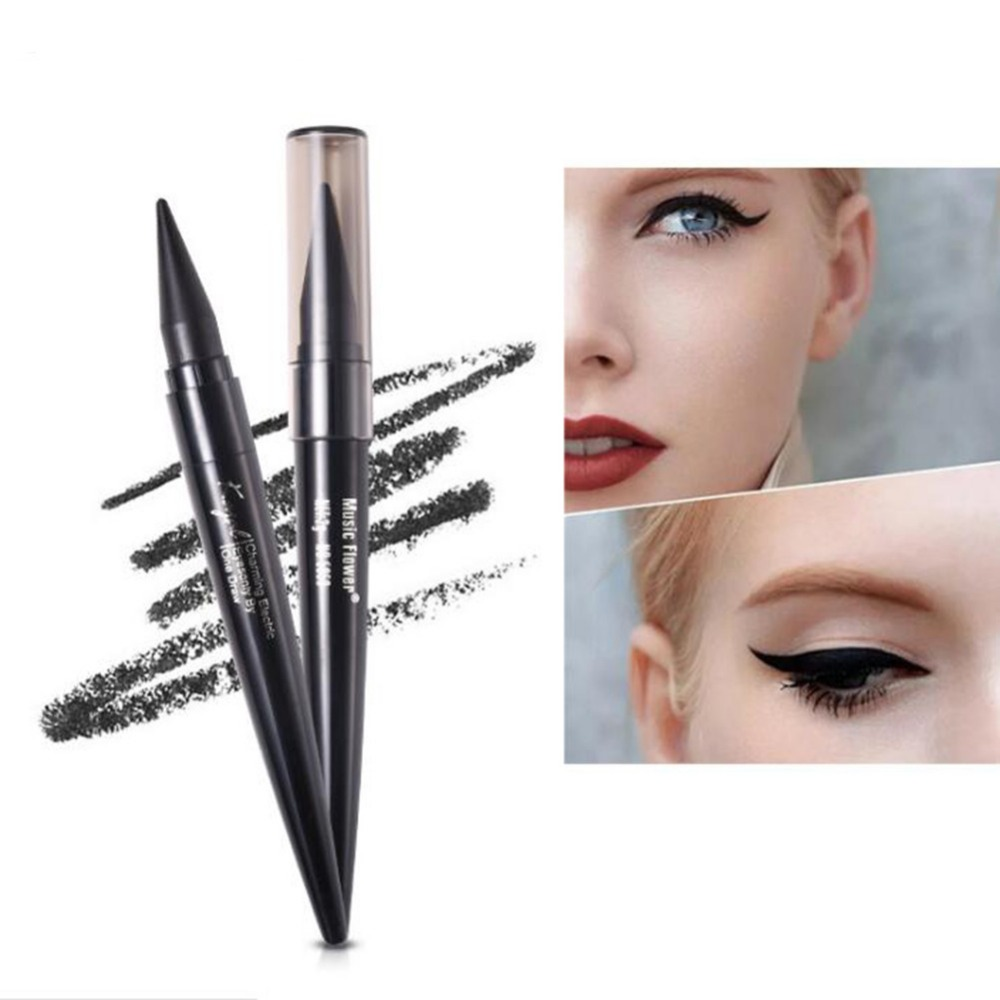 Quality Music Flower Eyeliner Stick Cream Makeup Cosmetic Waterproof Eye Liner Pencil Beauty Maquiagem Black Brown Blue Color #278603 Superior In