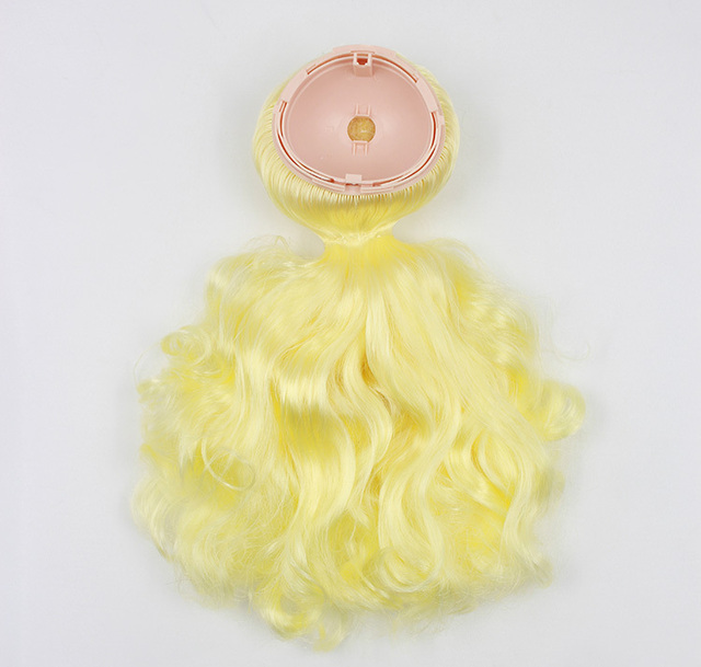 Neo Blythe Doll Scalp Dome Wig Yellow Hair