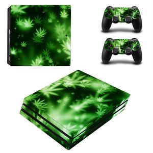 Image 5 - Green Leaf For PS4 Pro Vinyl Skin Sticker Cover Console & 2PCS Controller Skin Decal For Sony Playstation 4 Pro Game Accessories