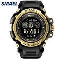 SMAEL мужские военные 8018 часы мужские Relogios Masculino 50 м водонепроницаемые наручные часы Авто Дата Blutooth умные спортивные цифровые часы