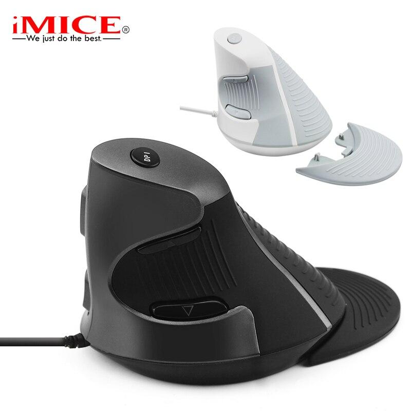 Souris filaire 1600 DPI souris ergonomique 6 boutons ordinateur optique bureau souris droite avec tapis de poignet Mause pour PC ordinateur portable portable