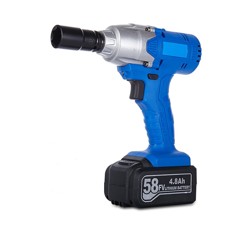 58v 4800mah cordless electric impact wrench lithium battery drill multi-function rechargeable electric tools 1pc battery lithium rechargeable electric wrench wrench cordless impact wrench scaffolding installation tool can change car wheel