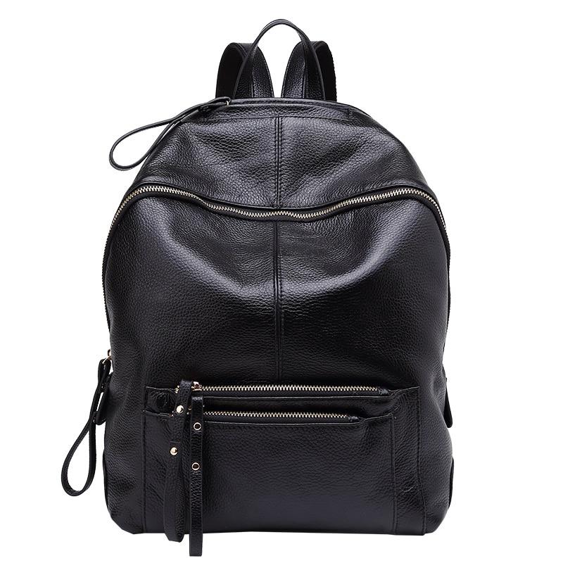 gray Sacs bule Black À Étanche Marque Dos Sac Véritable D'école Cuir Pour En Adolescentes Les De Mode 2018 Femmes BnUSAA