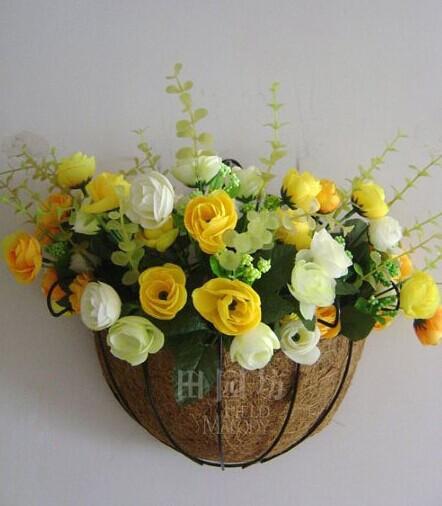 емэн цветочный горшок висит корзина сельский стиль цветы, цветок зеленый